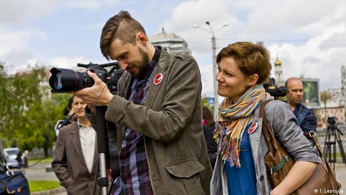 Außendreh beim Workshop in der Ukraine