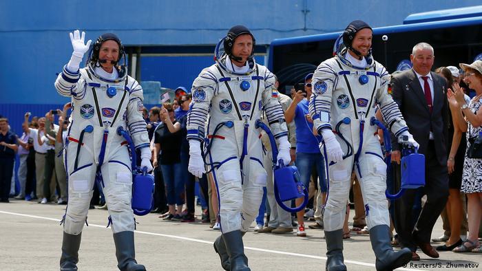 Kasachstan Start zur ISS
