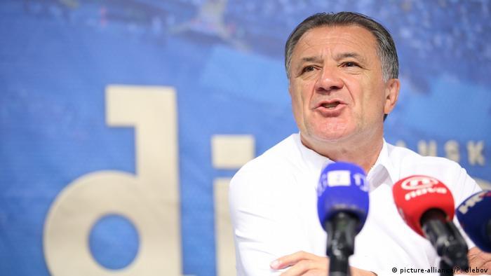 Kroatien, Zagreb: Zdravko Mamic bei einer Pressekonferenz im Maksimir Stadium