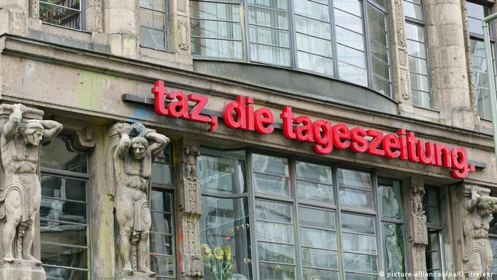 Deutschland Berlin Redaktionsgebäude der taz
