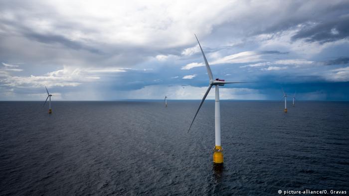 Globale Entwicklung von Erneuerbaren Energien: Schottische Windfarm