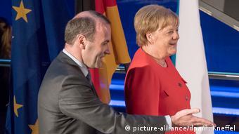 Манфред Вебер и Ангела Меркель
