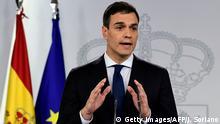 Spanien Madrid Pedro Sanchez stellt neues Kabinett vor