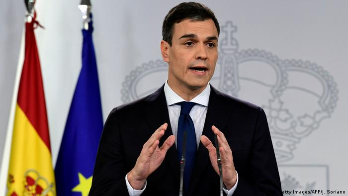 Spanien Madrid Pedro Sanchez stellt neues Kabinett vor (Getty Images/AFP/J. Soriano)