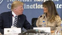US-Präsident Donald Trump und Melania Trump