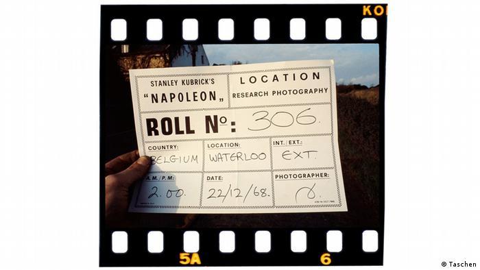Imagem mostra ficha técnica que fazia parte do filme 'Napoleon', de Stanley Kubrick