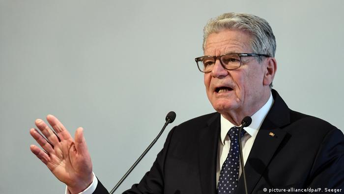 Joachim Gauck, expresidente de Alemania.