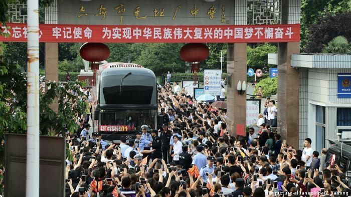 chinesische Hochschulaufnahmeprüfung (picture-alliance/dpa/Z. Yadong)