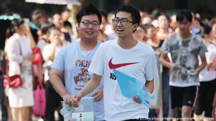 Hochschulaufnahmeprüfung in China (picture alliance/dpa/Imaginechina/Wan Shanchao)