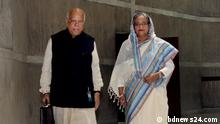 Caption: Bangladesh Finance Minister AMA Muhith has unveiled a Tk 4.65 trillion budget for fiscal 2018-19. The figure is an increase of 25 percent from the revised budget and more than 16 percent higher than the original budget of the outgoing fiscal year. Keywords: Finance Minister, AMA Muhith, budget, Bangladesh,