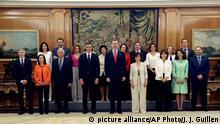 Vereidigung des neuen spanischen Kabinetts