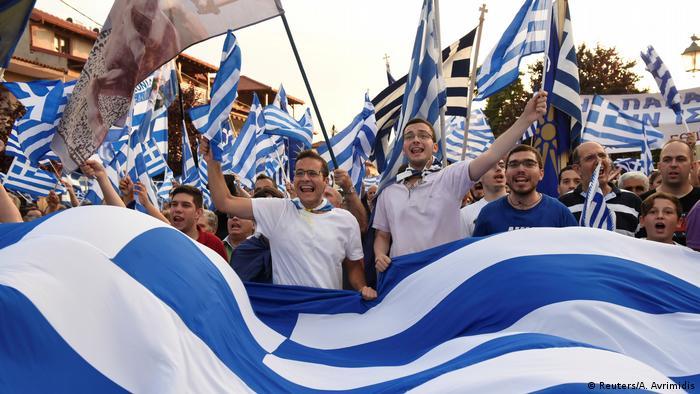 Griechenland Namensstreit mit Mazedonien Protest in Pella
