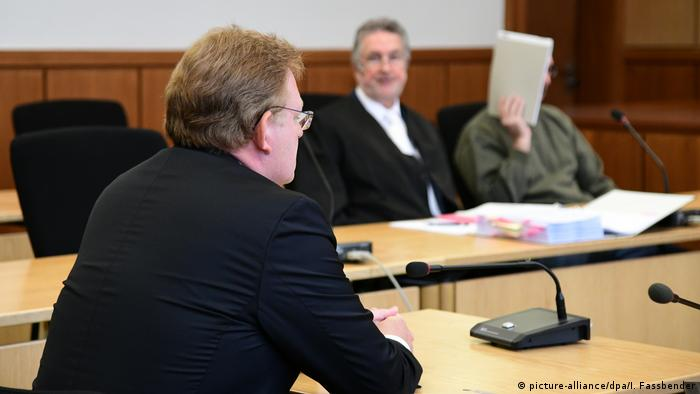 Altena Mayor Andreas Hollstein, defendant in courtroom