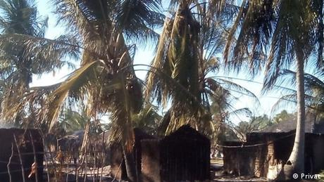 Mosambik abgebranntes Haus im Macomia (Privat)