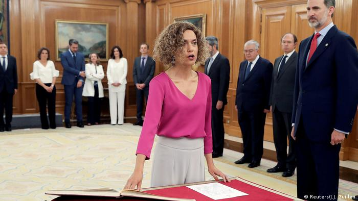 Spanish Minister of Regional Administration Meritxell Batet during her swearing-in ceremony in June.