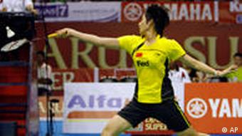China Wang Lin Badmintonspielerin