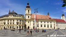 Der Große Ring im Zentrum von Sibiu in Rumänien