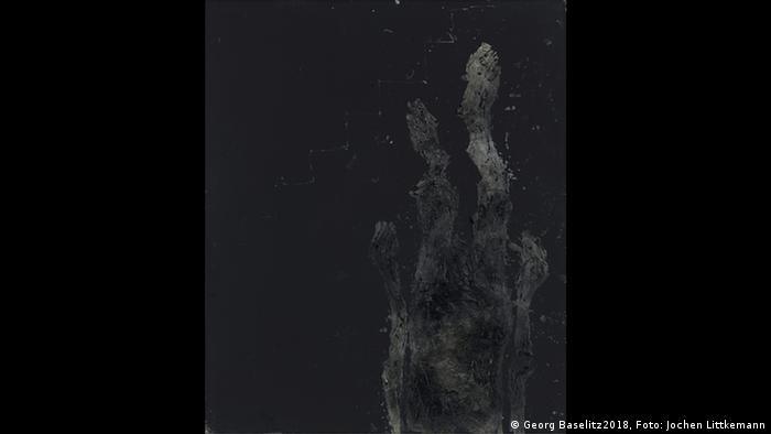 Ein Gemälde von Baselitz (Georg Baselitz2018, Foto: Jochen Littkemann)