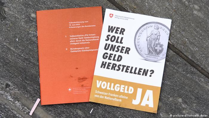 Schweiz: Vollgeld-Initiative, Volksabstimmung zur Einführung von Sovereign Money
