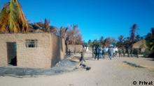 Mosambik, Macomia: Mucojo village had houses destroyed by armed groups