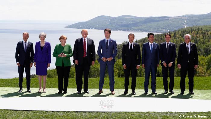 G7 Gipfel in Kanada Familienfoto (Reuters/Y. Herman)
