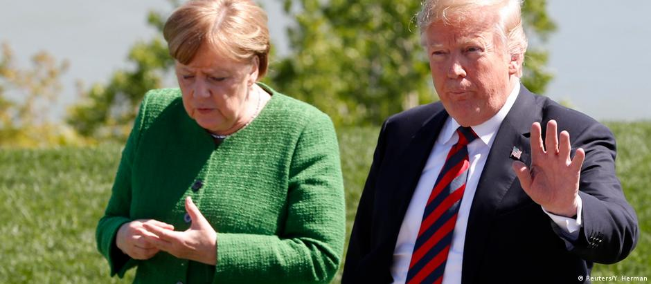 Donald Trump and Angela Merkel (Reuters/Y. Herman)
