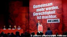 08.06.2018, Leipzig (Sachsen): Bernd Riexinger, Bundesvorsitzender der Partei Die Linke, spricht beim Bundesparteitag der Partei Die Linke. Foto: Britta Pedersen/dpa | Verwendung weltweit