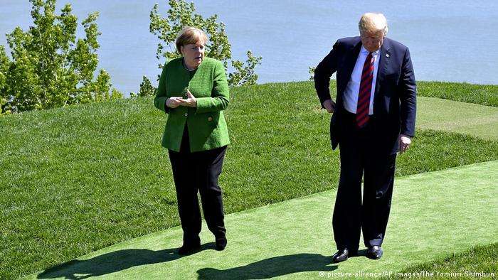 Merkel and Trump (picture-alliance/AP Images/The Yomiuri Shimbun)