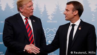 G7 Gipfel in Charlevoix Kanada Trump und Macron
