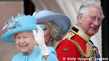 London Geburtstag der Queen Trooping the Colour