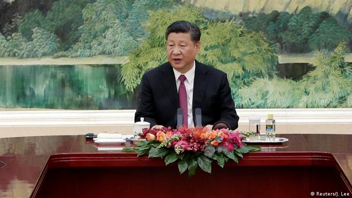 Chinese President Xi Jinping speaks during a meeting with delegates of the Shanghai Cooperation Organization