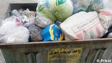 Iran Müll in Teheran