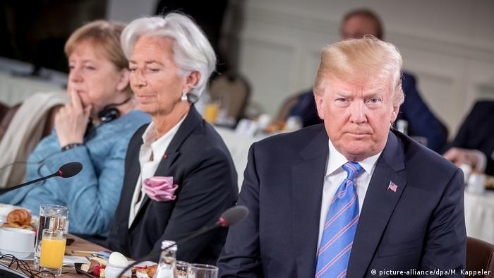 Merkel, Lagarde i Trump