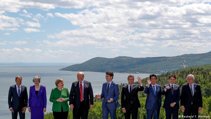 G7 Gipfel Kanada Gruppenbild (Reuters/ Y. Herman)