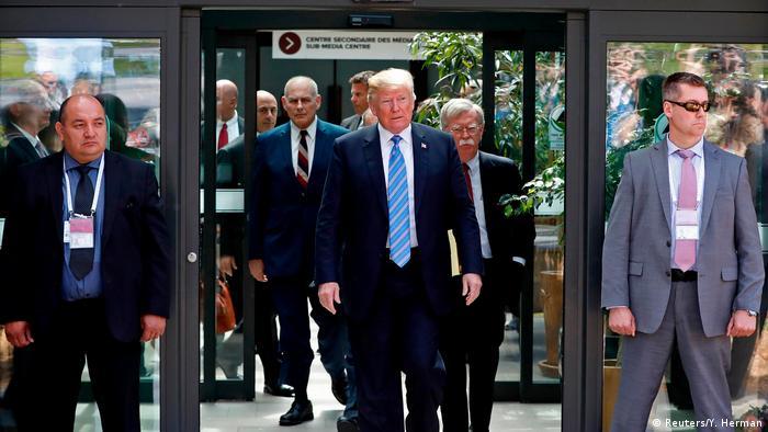 Charlevoix G7 Gipfel Abreise Donald Trump