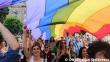 """""""Der 14. Bucharest Pride, Parade der Vielfältigkeit in Bukarest, 9. Juni 2018""""."""
