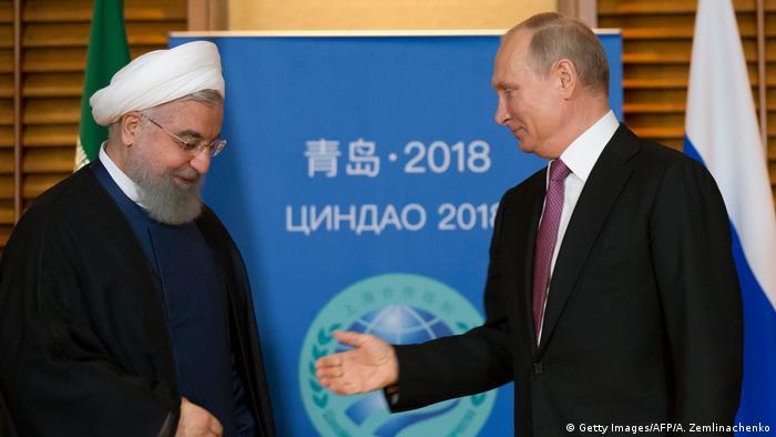 China Qingdao Treffen Ruhani Putin