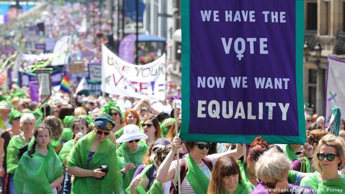London 100 Jahre Frauenwahlrecht