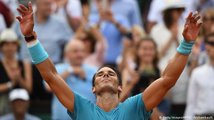 Tennis French Open Finalsieger Rafael Nadal (Getty Images/AFP/C. Archambault)