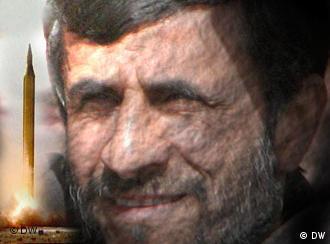 President Ahmadinejad and a missile.