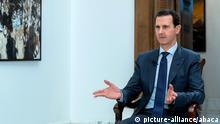 Syrien, Damaskus: Bashar al-Assad im Interview mit der Britischen Mail on Sunday