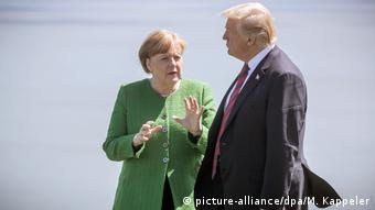 Kanada, Quebec: G7-Gipfel: Merkel kritisiert Trump (picture-alliance/dpa/M. Kappeler)