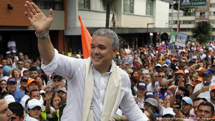 Kolumbien Ivan Duque in Armenia