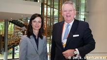 Mariya Gabriel (European Commission, Commissioner for Digital Economy, Bulgaria) and Peter Limbourg (DW, Director General, Germany) (DW/R. Oberhammer)