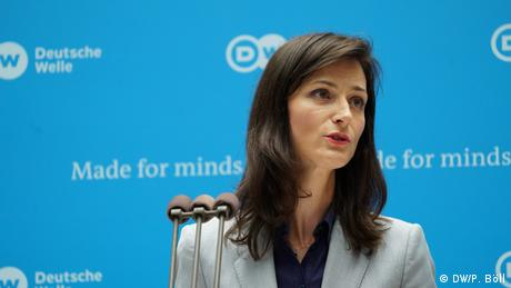 Keynote: Mariya Gabriel (European Commission, Commissioner for Digital Economy, Bulgaria) (DW/P. Böll)