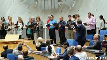 Musical Interlude: the DW and the WDR choir perform Beethoven's Ode to Joy together