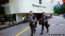 Singapur Gurkha-Polizisten