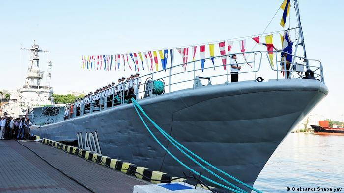 Корабель військово-морського флоту України в Одесі (архівне фото)