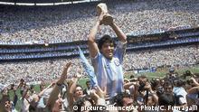 Diego Maradona Fußball WM 1986