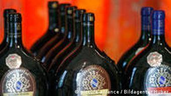 Бутылки-фляги с франконским вином